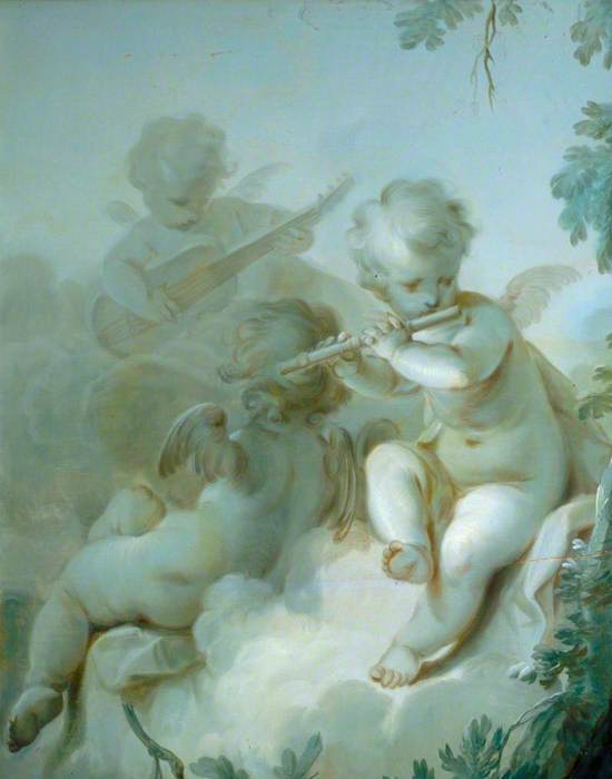 Three Cupids Playing Instruments