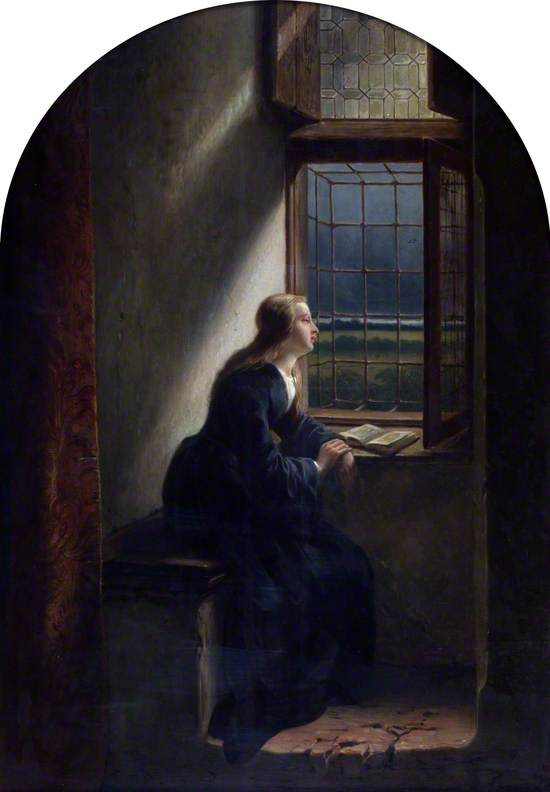 Meditation: A Lady Looking out of a Window
