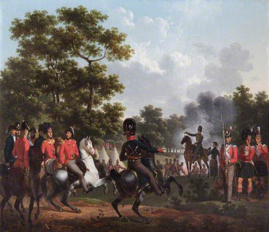 The Duke of Wellington Visiting the Outposts at Soignies