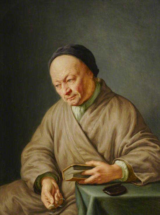 The Artist Willem van Mieris with a Black Cap and Spectacles