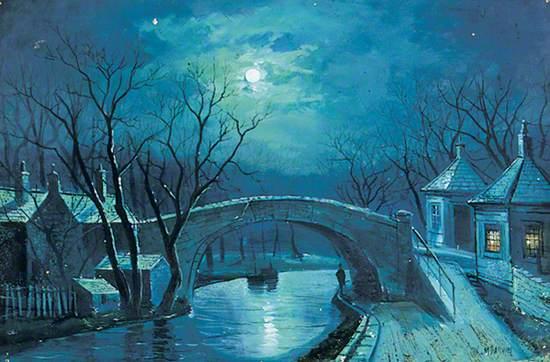 Redcote Bridge, Armley, By Moonlight