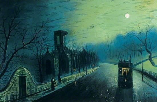 Kirkstall Abbey by Moonlight