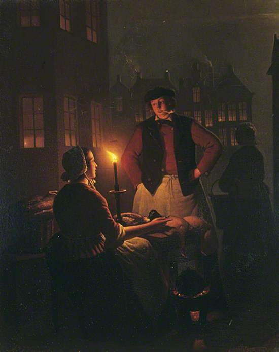 Two Figures by Candlelight