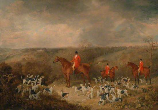 Lord Glamis and His Staghounds