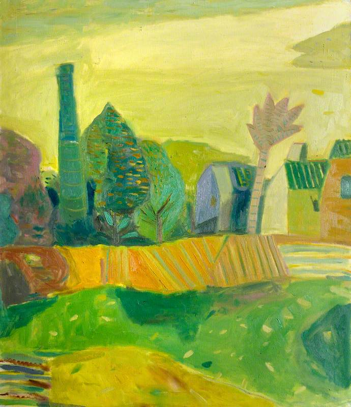Yellow Landscape with a Chimney