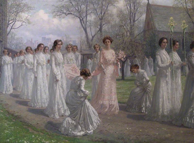 Whitelands College May Day Procession, 1902