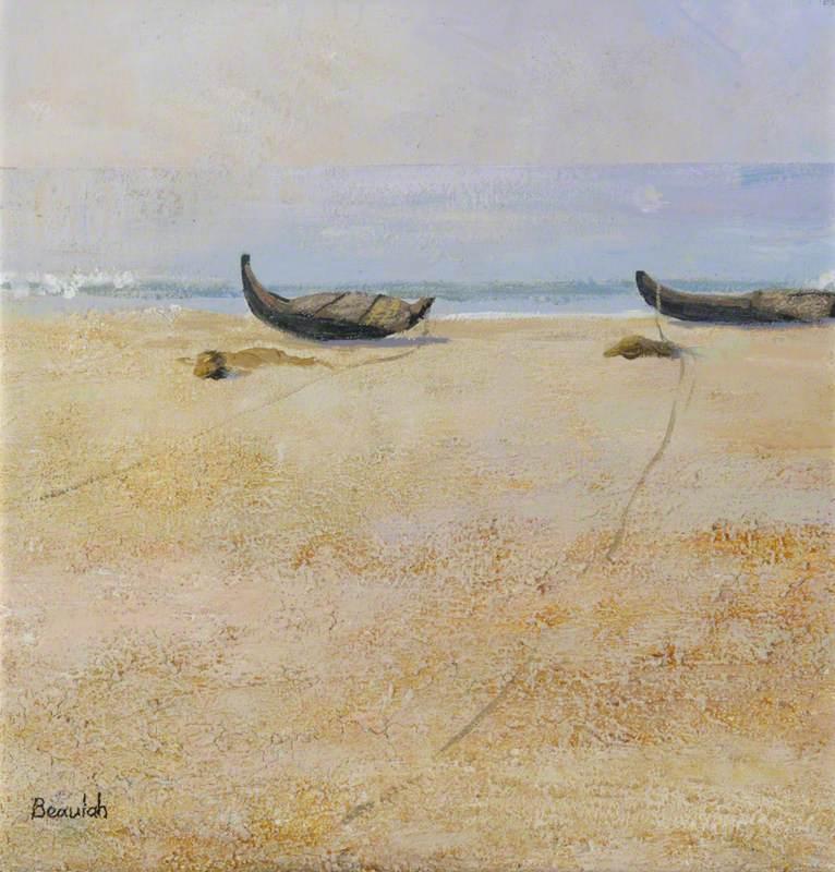 Two Fishing Boats on Kovalam Beach