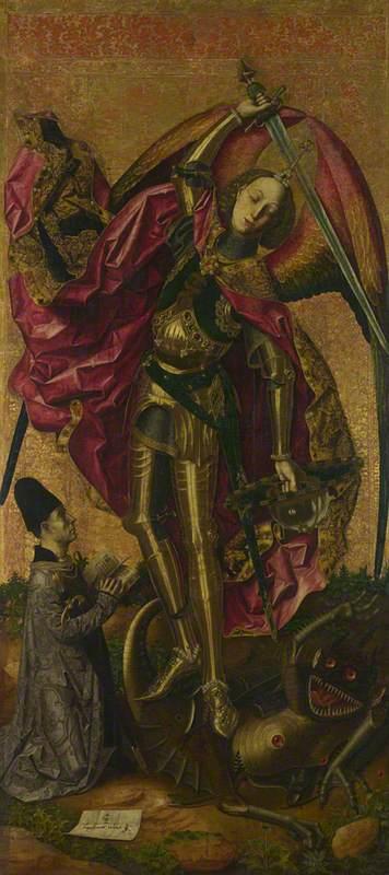 Saint Michael triumphant over the Devil with the Donor Antonio Juan