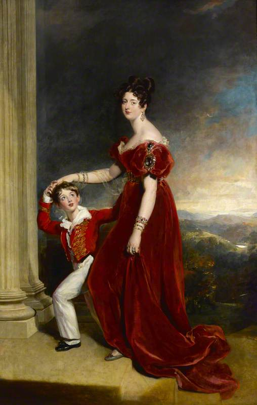 Frances Anne (1800–1865), Marchioness of Londonderry, and Her Son, George Henry (1827–1828), Viscount Seaham