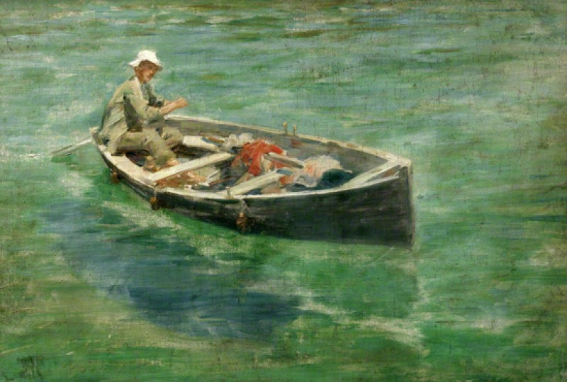 (detail), oil on canvas by Henry Scott Tuke (1858–1929)