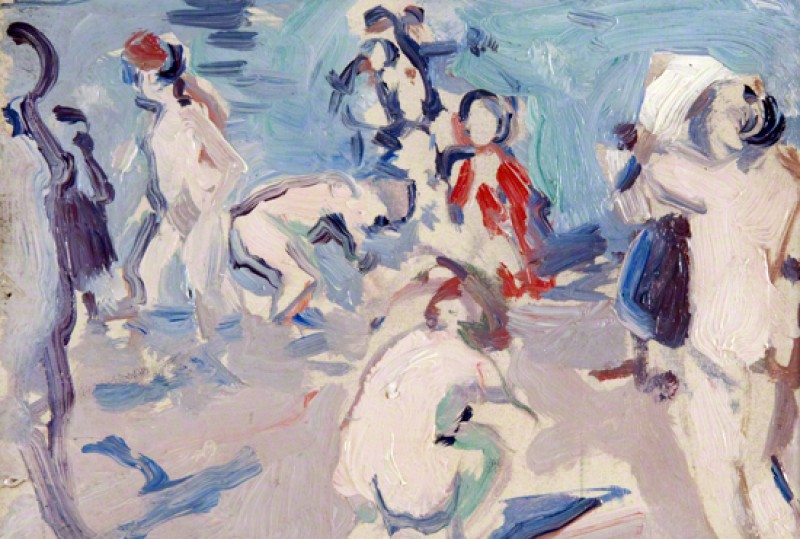 (detail), 1906, oil on canvas laid on board by Samuel John Peploe (1871–1935)