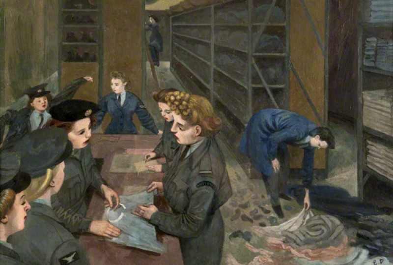 (detail), c.1940–1945, oil on canvas by Evelyn Mary Dunbar (1906–1960)
