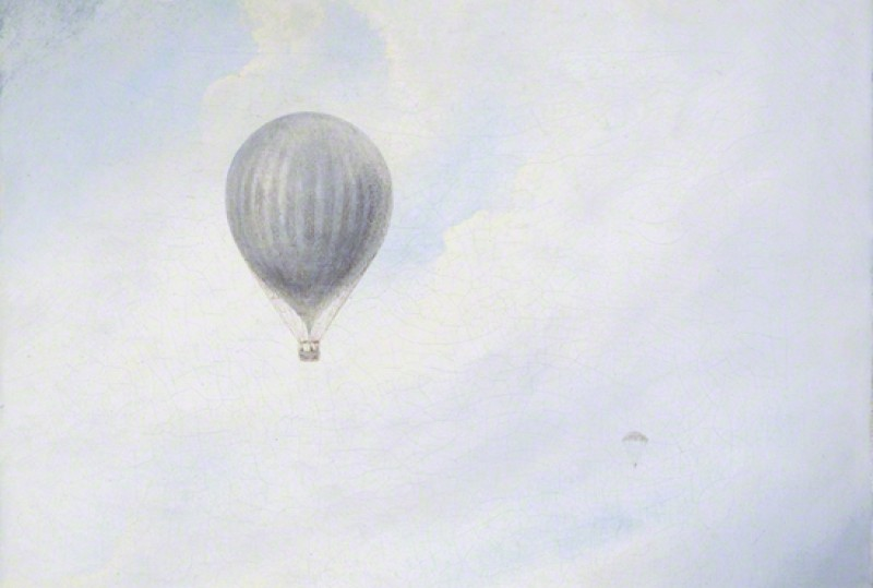 Balloon over Cliffs
