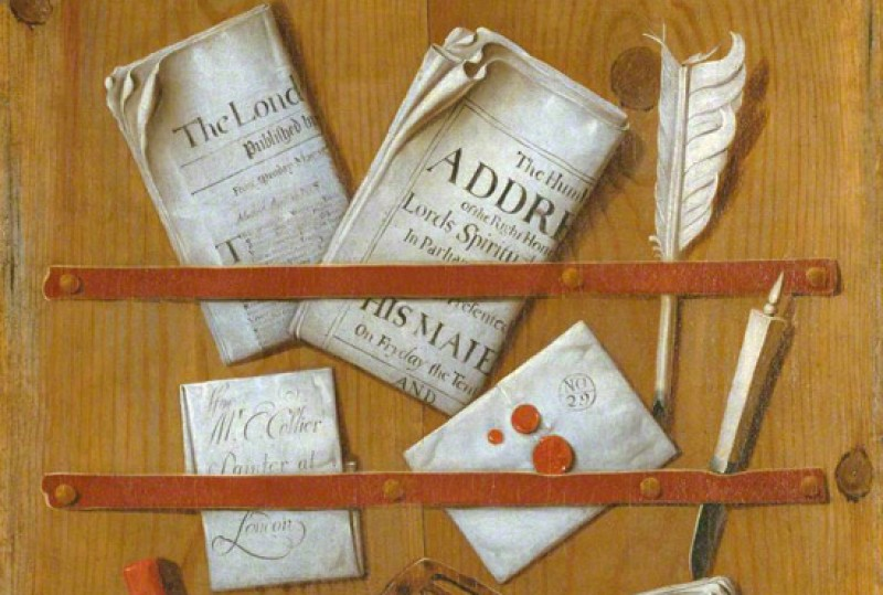 (detail), c.1699, oil on canvas by Edwaert Collier (c.1640–c.1707)