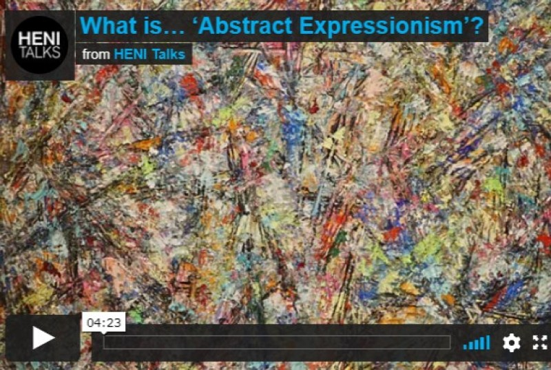HENI Talks video on Abstract Expressionism