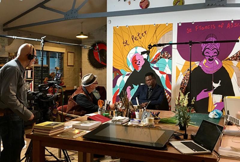 Yinka's studio