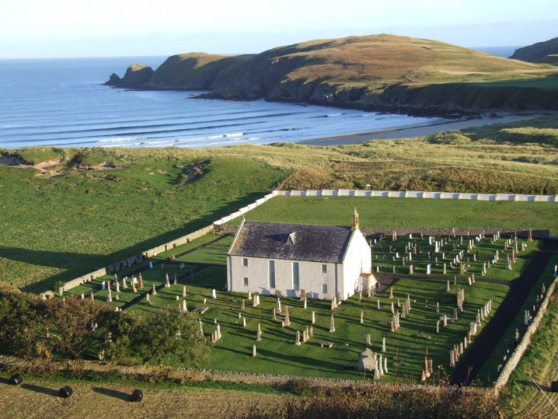 Strathnaver Museum on the north coast of Scotland