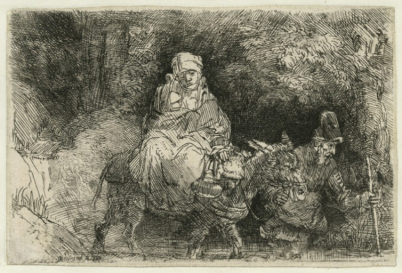 The Flight into Egypt: Crossing a Brook (only state)