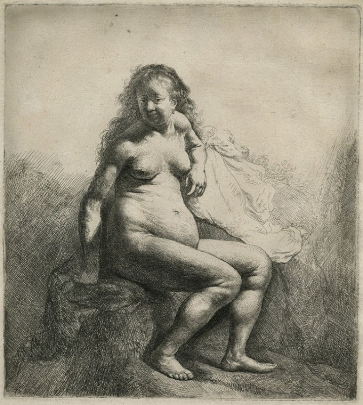 Naked Woman Seated on a Mound
