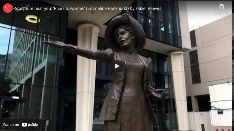Sculpture near you: 'Rise up, women'