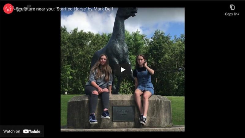 Sculpture near you: 'Startled Horse'