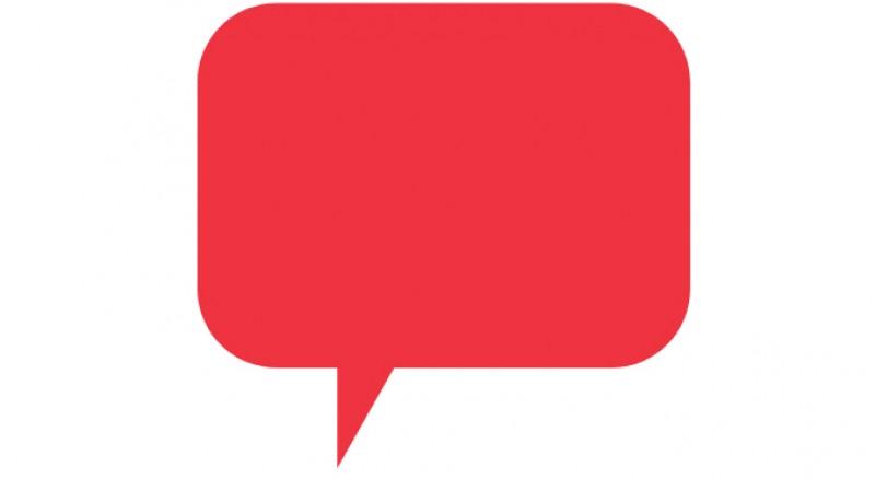 Red speech bubble