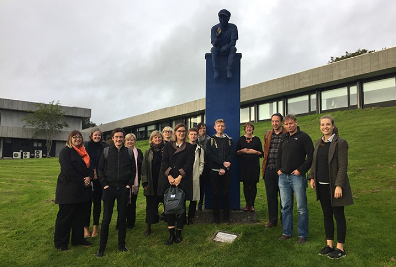 Art UK Sculpture project staff at the University of Stirling