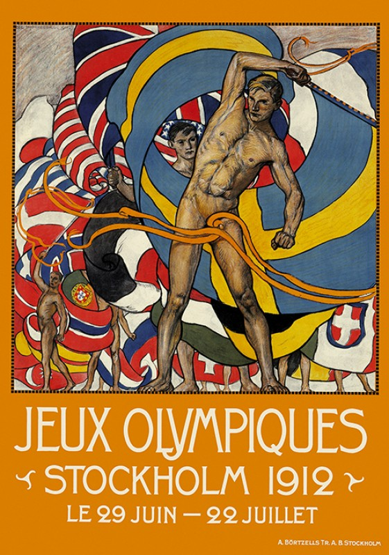 Olympic Games poster, Stockholm 2012