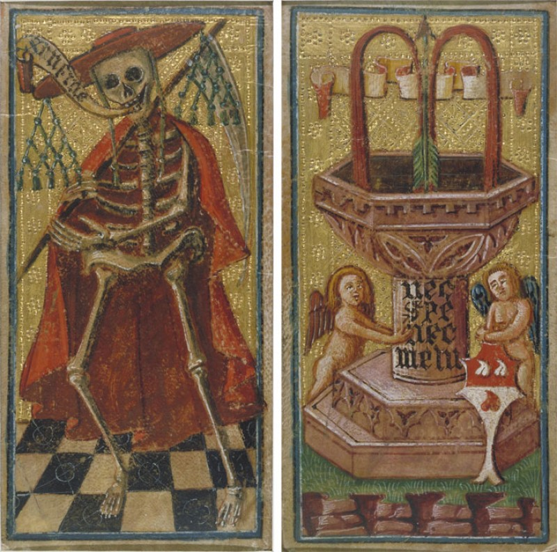 1490s, hand-painted tarocco (tarot) cards by Antonio Cicognara (active 1480–1500)