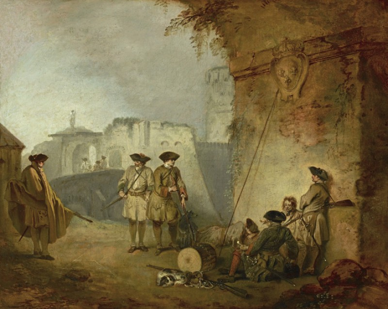 by Jean-Antoine Watteau, c.1711−1712, oil on canvas, The Frick Collection; purchased with funds from the bequest of Arthemise Redpath, 1991