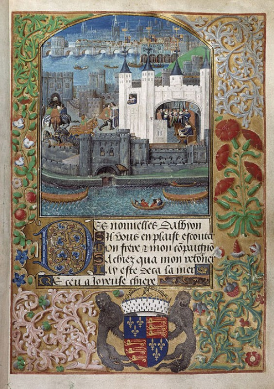 The Tower of London and the Thames from 'Poems of Charles, Duke of Orleans'