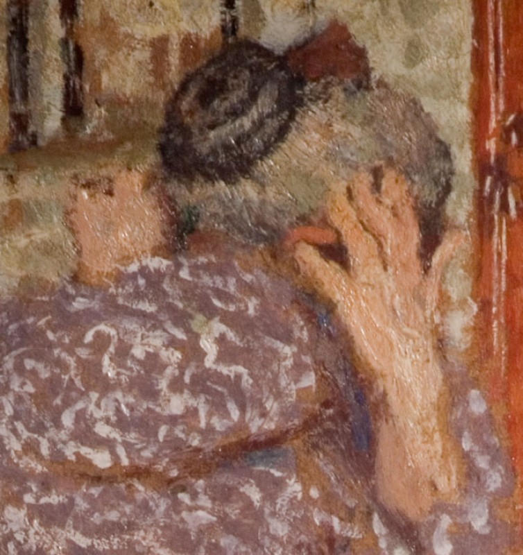 Madame Vuillard Arranging Her Hair (detail of hands)