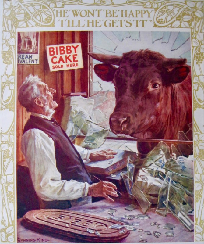 Cattle feed advert for J. Bibby and Sons