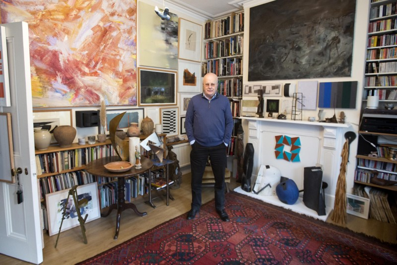 Tim Sayer in his London home
