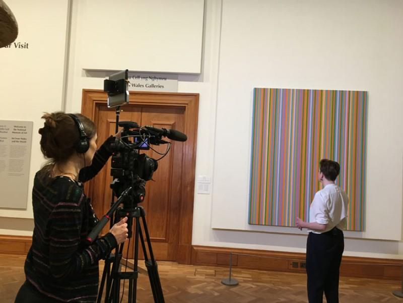 Open Arts Objects filming Bridget Riley's 'Kashan'