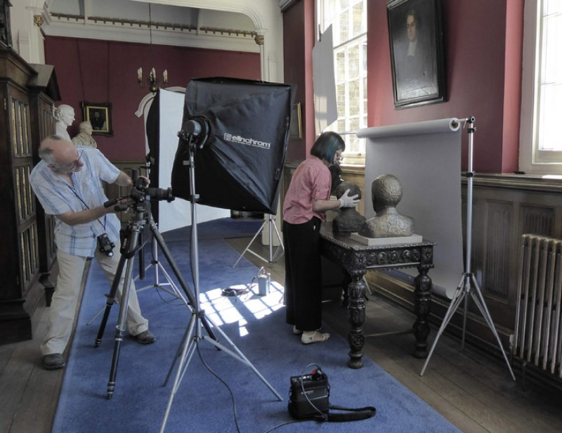 Photographer Ian Skelton at Lambeth Palace