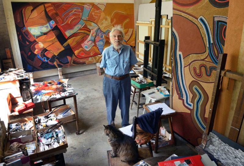 John Hitchens in his Sussex studio, July 2015