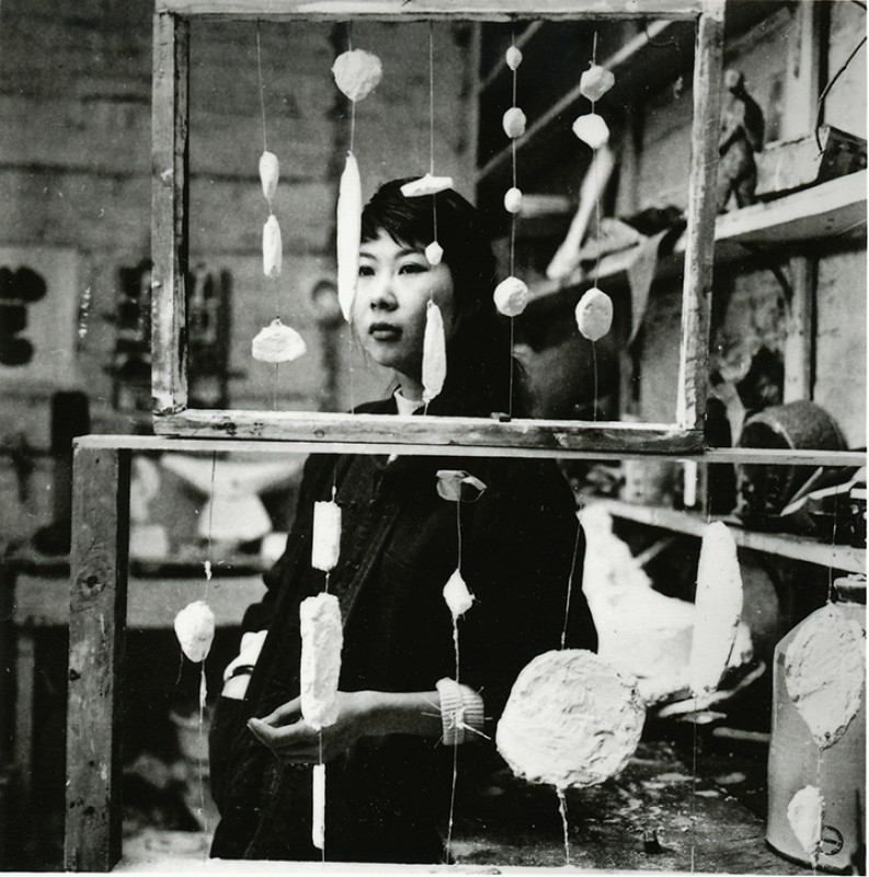 Kim Lim in her studio, 1959