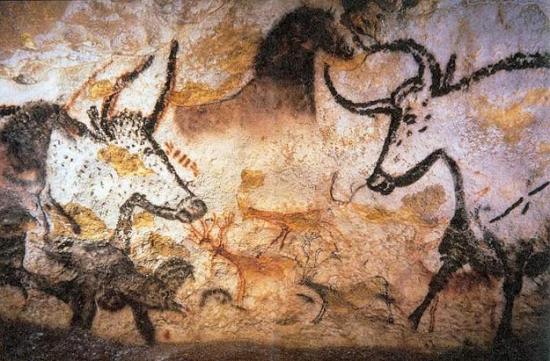 Paintings in the Lascaux caves (Montignac, Dordogne, France)