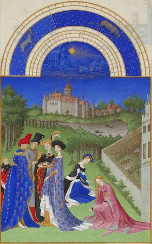 Folio 4 from 'Très Riches Heures du Duc de Berry'