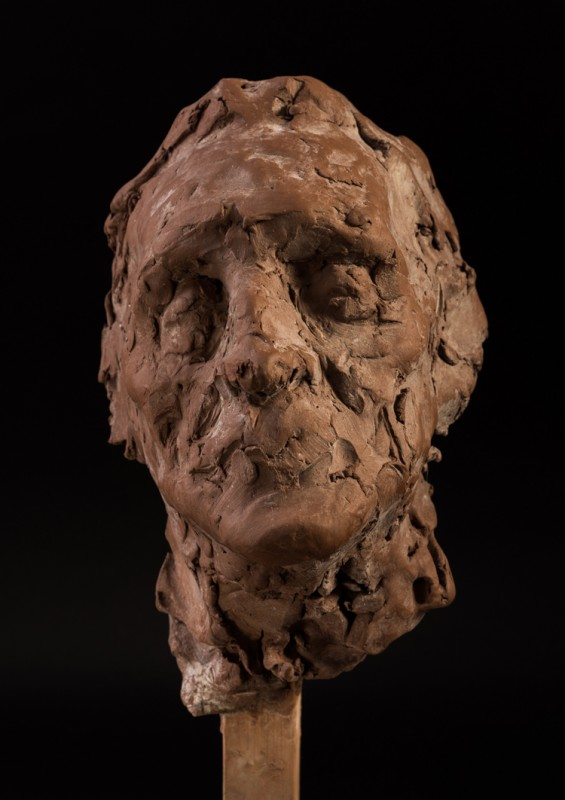 Unfinished clay head of Alan Springal, Martin Yeoman, 2016