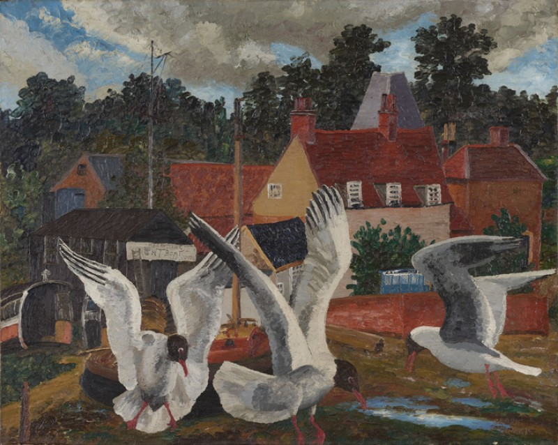 Pin Mill and Black-Headed Gulls