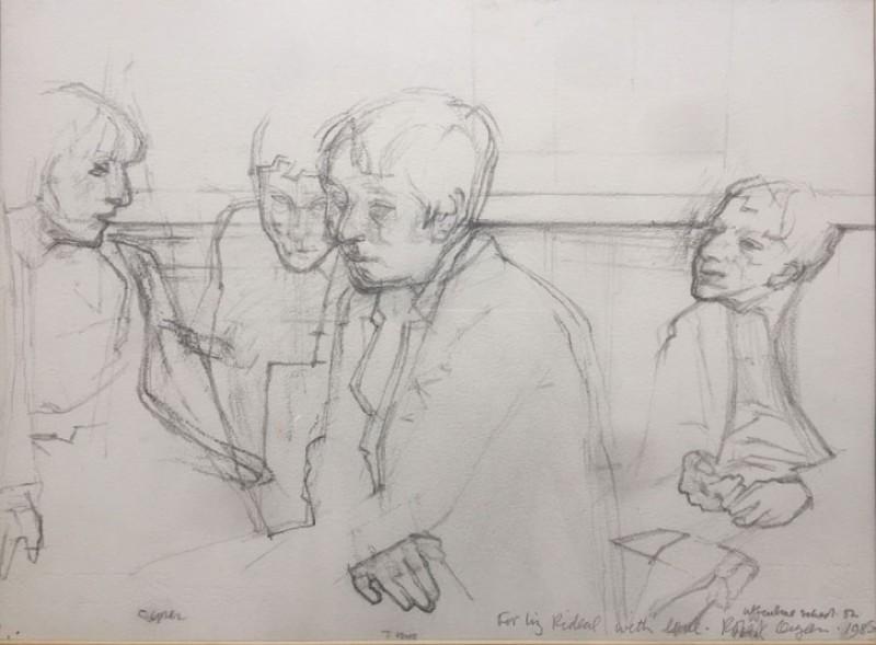 Sketch for 'Portraits and Self Portraits, the Uffculme Children'