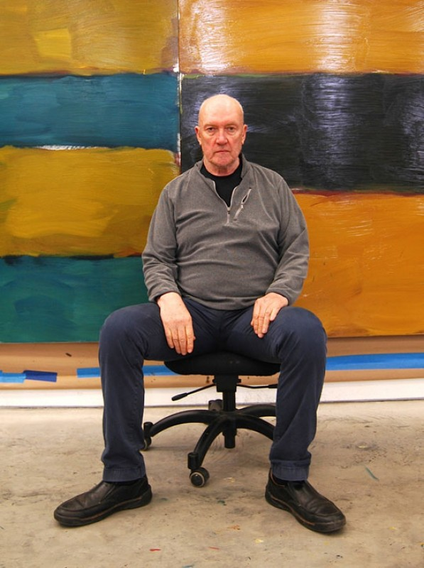 Sean Scully in his studio
