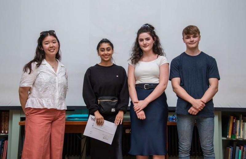 The winners of Write on Art 2019