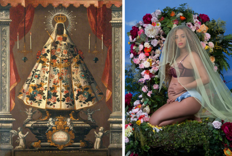 The Virgin of Guadalupe by unknown artist / I Have Three Hearts (Beyonce)