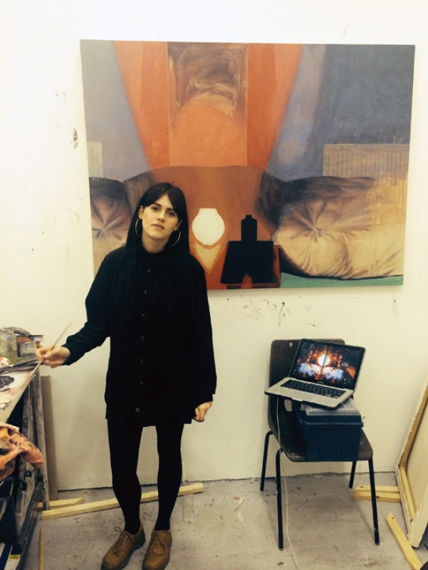 Louise Giovanelli in her studio