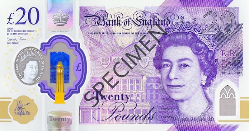 Front of the £20 note