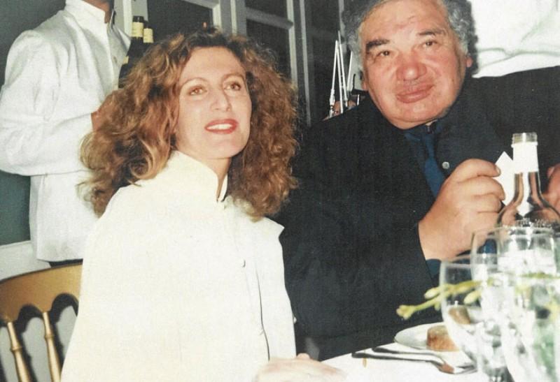 Nicole Farhi and Eduardo Paolozzi