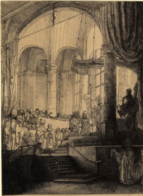 1648, etching with touches of drypoint on Japan paper by Rembrandt van Rijn (1606–1669)